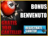 TotoSi Bingo: 10 euro, 100 cartelle come bonus di benvenuto