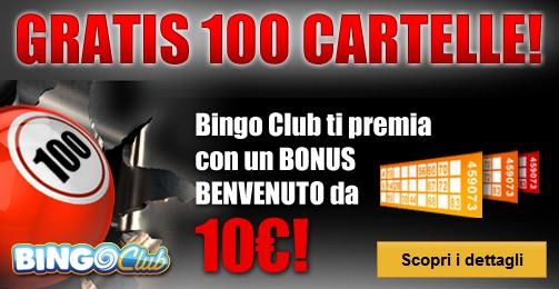 Totosi bingo club online: un ricco bonus di benvenuto